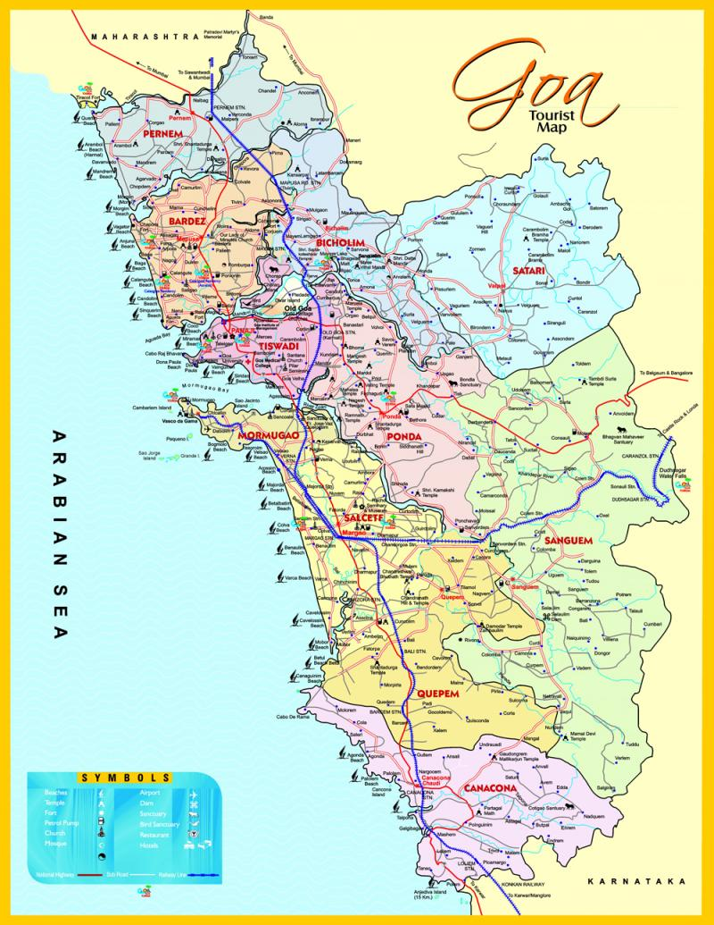 Map of goa tiny little state in india look at that long map of goa tiny little state in india look at that long coastline goh such a beauty pinterest goa and india gumiabroncs Image collections