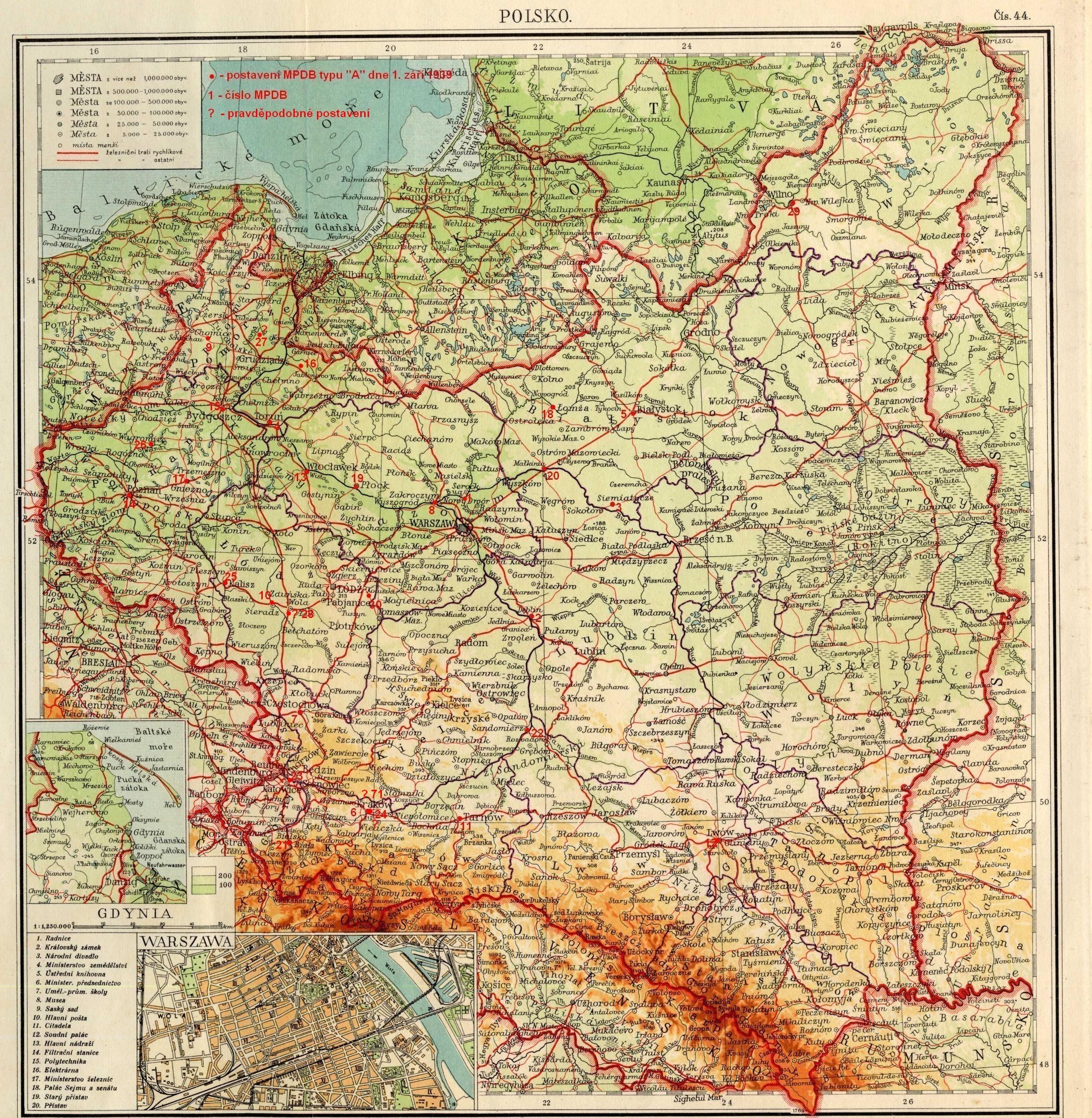 Polska Mapa 1939 Mapa