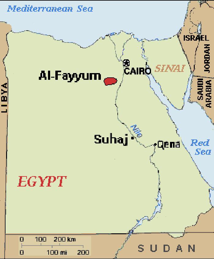 Egyptská Policie Zastřelila Dva členy Skupiny Hasm - Map of fayoum egypt
