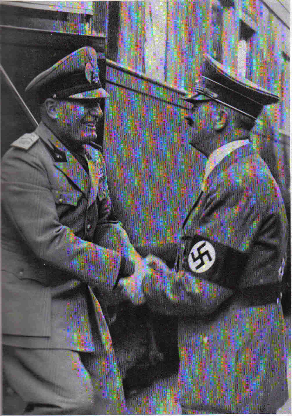 the major influences of adolf hittler and benito mussolini on the world Benito mussolini and adolf hitler stand together on a reviewing stand during an official visit to occupied yugoslavia as world war ii approached, mussolini announced his intention of annexing malta , corsica, and tunis.