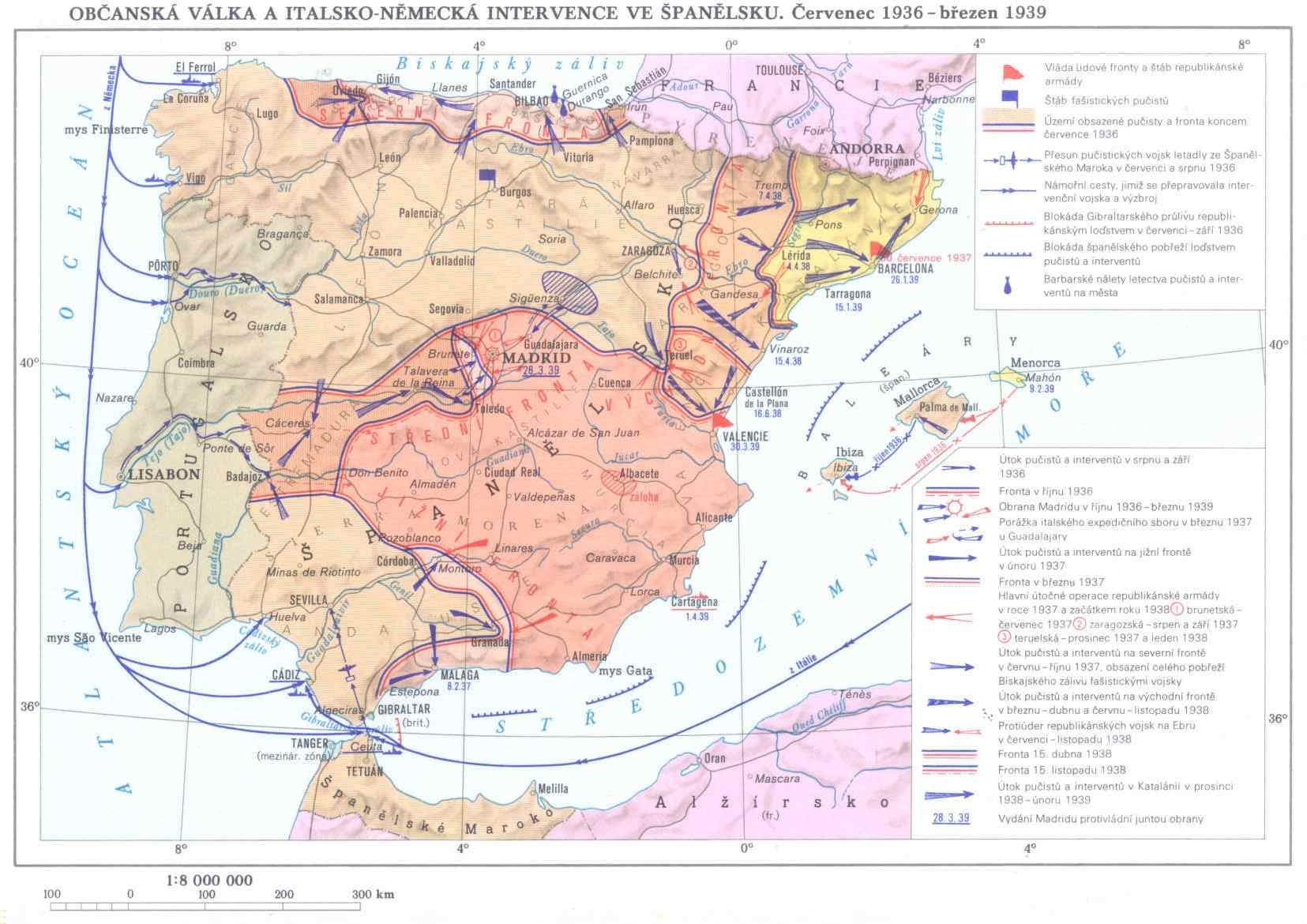 Španělská občanská válka 1936-39 :: všeobecné :: války