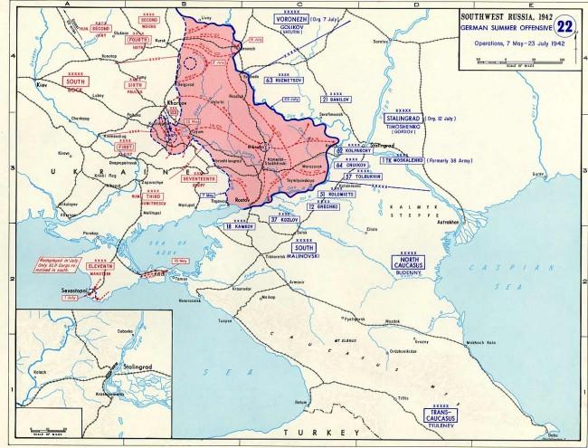 Situace před bitvou o Stalingrad