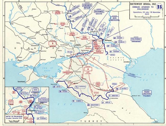 Rozložení sil u Stalingradu