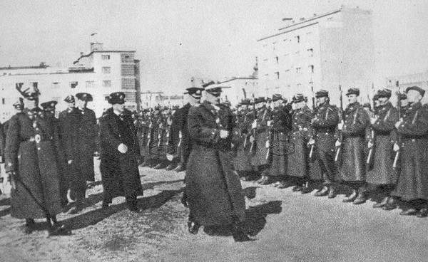Přehlídka oddílů Námořní brigády národní obrany, Gdynia 1939