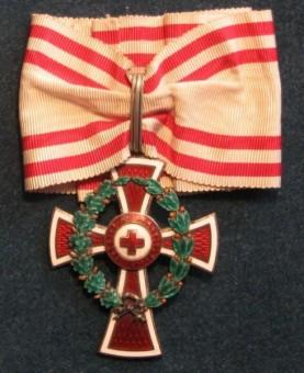 Čestné vyznamenanie I. triedy s vojnovou dekoráciou Miniatúra  dôstojníckeho kríža - reverzfoto: Ivan Chudý