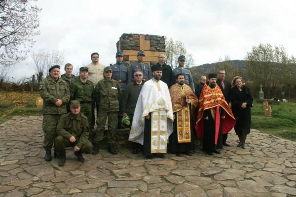 Posviacka vojnového cintorína v obci Becherov okres Bardejov 18.10.2013