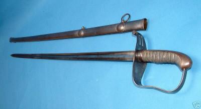 šabľa vz.1850 pre dôstojníkov pechoty