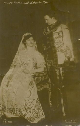Cisár Karol I. s manželkou
