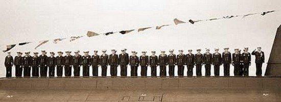 Posádka ponorky K-141 Kursk nastoupená na palubě