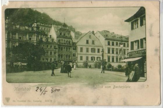 Becherovo náměstí, cca 1600