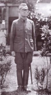 Generálporučík Hjakutake na základně Rabaul, srpen 1942